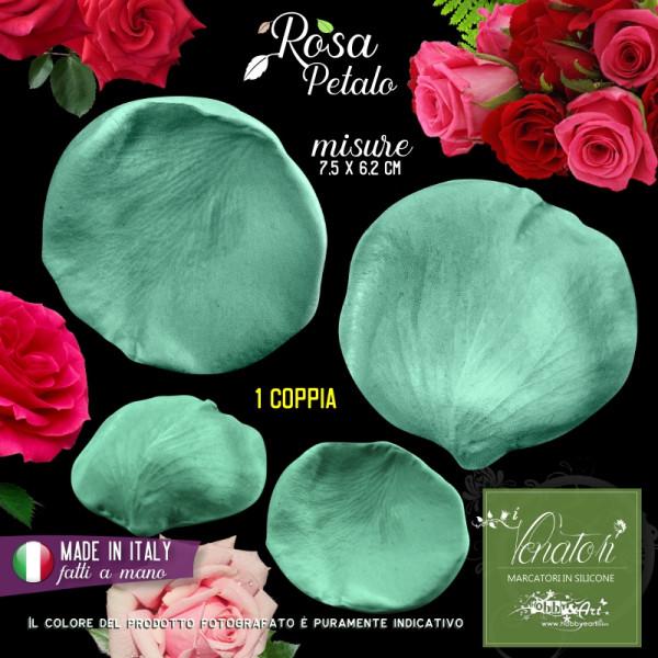 Venatore in silicone petalo di Rosa, 7,5 x 6,2 cm ITA