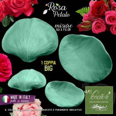 Venatore in silicone petalo di Rosa, 9,0 x 7,0 cm ITA