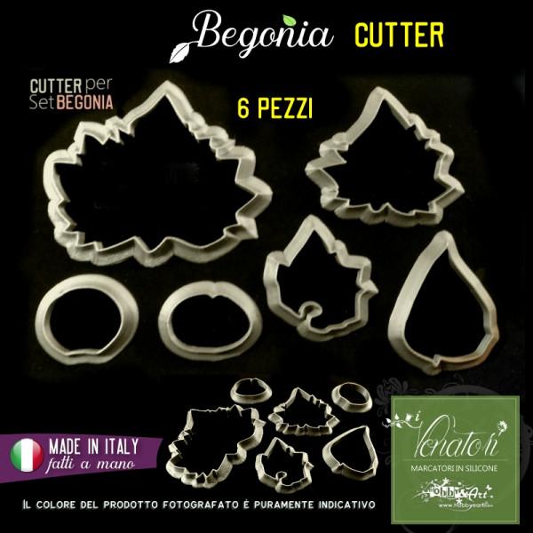 Cutter in plastica Begonia set - 6 pezzi