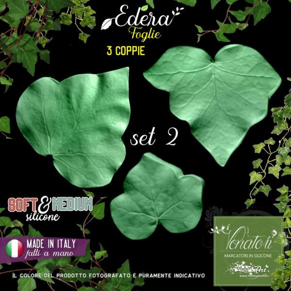 Venatore in silicone 3 foglie di Edera, Set 2 - Linea SM ITA