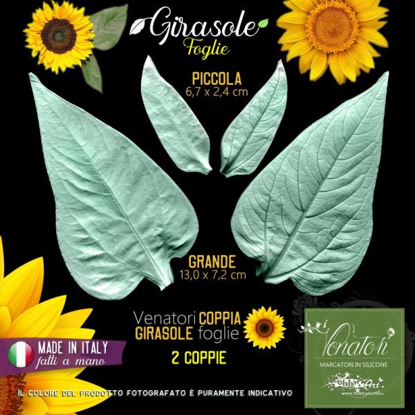 Venatore in silicone Girasole, Set 2 foglie - ITA