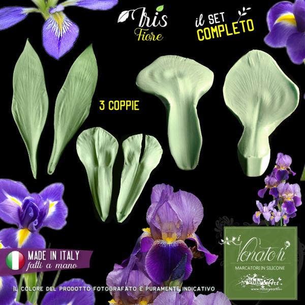 Venatore in silicone Iris, set fiore completo - ITA