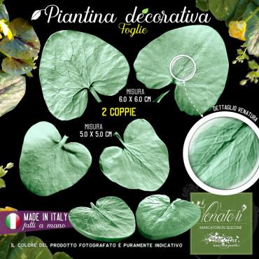 Venatore in silicone Piantina decorativa, set 2 foglie - ITA