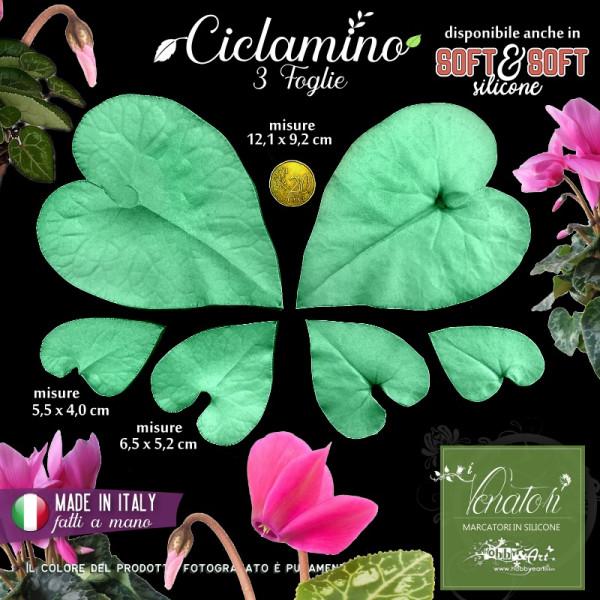 Venatore in silicone Ciclamino 3 foglie - ITA