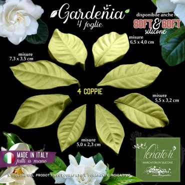 Venatore in silicone GARDENIA set 4 foglie - ITA