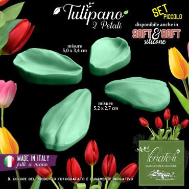Venatore in silicone TULIPANO set fiore piccolo 2 petali - ITA