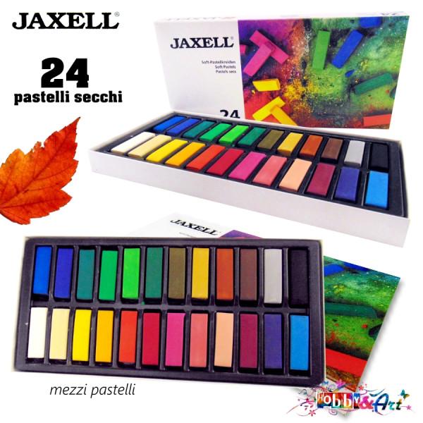24 mezzi pastelli secchi per artisti Jaxell