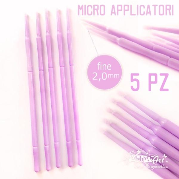 Micro applicatore fine - 2mm - 5 pezzi