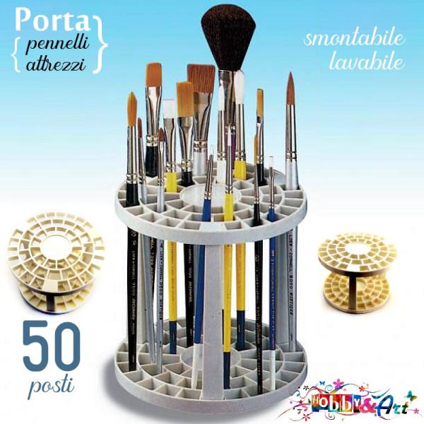 Porta pennelli e attrezzi, 50 divisori, smontabile in plastica