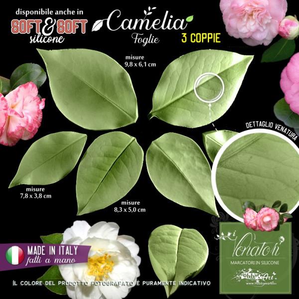 Venatore in silicone CAMELIA 3 foglie - ITA