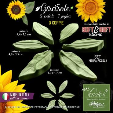 Venatore in silicone GIRASOLE 2 petali + fogliolina - ITA