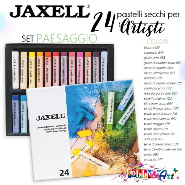 24 pastelli secchi per artisti Jaxell Set PAESAGGIO