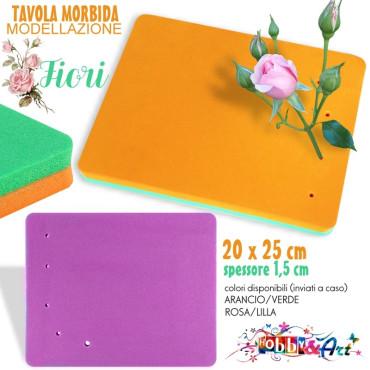 Tappeto antiaderente per modellazione fiori 25x20x1,5 cm