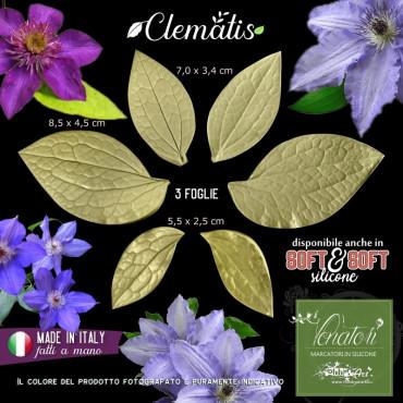 Venatore in silicone CLEMATIS 3 foglie - ITA
