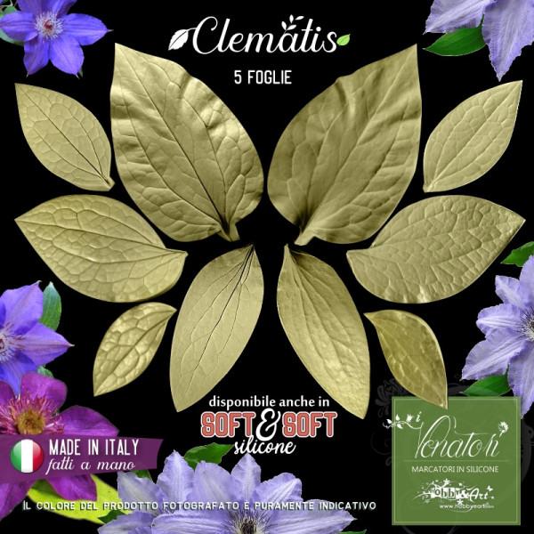 Venatore in silicone CLEMATIS 5 foglie - ITA