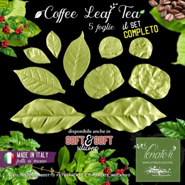 Venatore in silicone 5 foglie di pianta COFFEE LEAF TEA - ITA