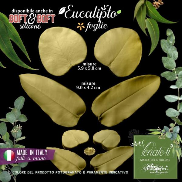 Venatore in silicone Eucalipto set 2 foglie - ITA