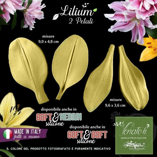 Venatore in silicone Lilium (giglio) set 2 petali 90x48 e 96x36 mm - ITA