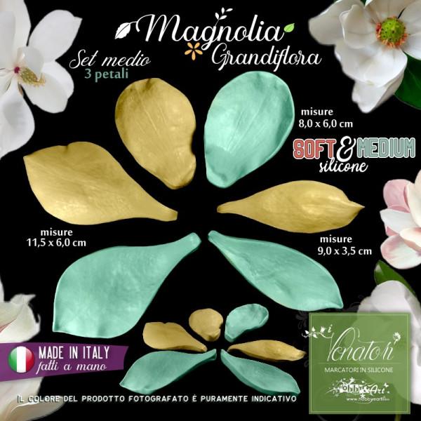Venatore in silicone petali di MAGNOLIA GRANDIFLORA set 3 petali - ITA