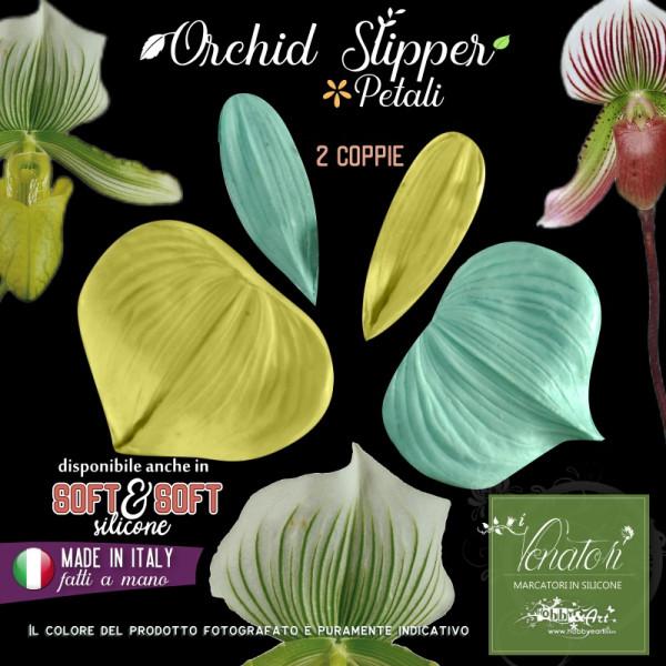 Venatore in silicone Orchidea Lady Slipper 2 petali - ITA
