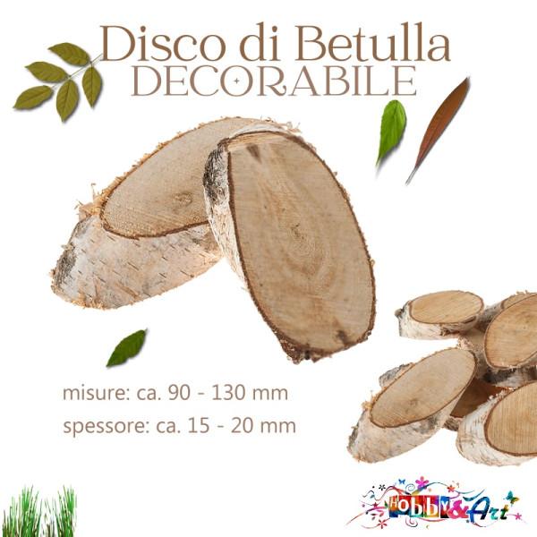 Base in legno di betulla 9 - 13 cm