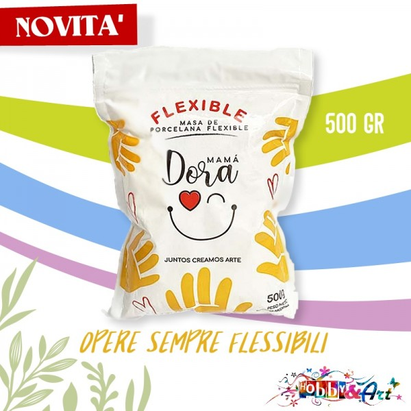 Mamà Dora - Porcellana Fredda Flessibile Bianca 500gr