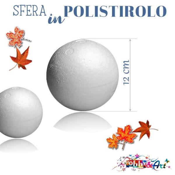 Sfera di polistirolo diametro 12,0 cm - Alta densità