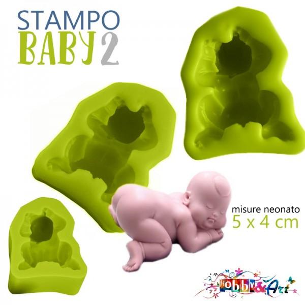 Stampo in silicone - Neonato Baby 2