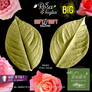 Venatore in silicone Foglia di Rosa BIG 11x7cm - ITA