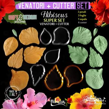 Venatore in silicone HIBISCUS SUPER SET 6 venatori + 6 Cutter