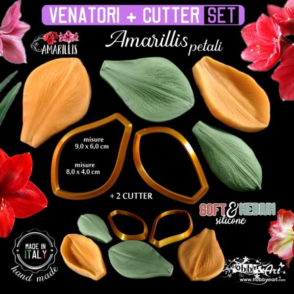 Venatore in silicone Amarillis 2 petali con Cutter abbinati - ITA