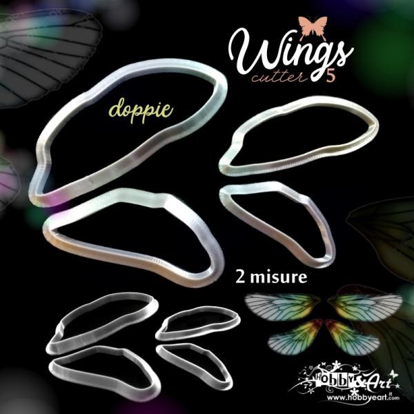 Cutter Ali di Farfalla doppie, libellula set 4 pezzi - modello 5