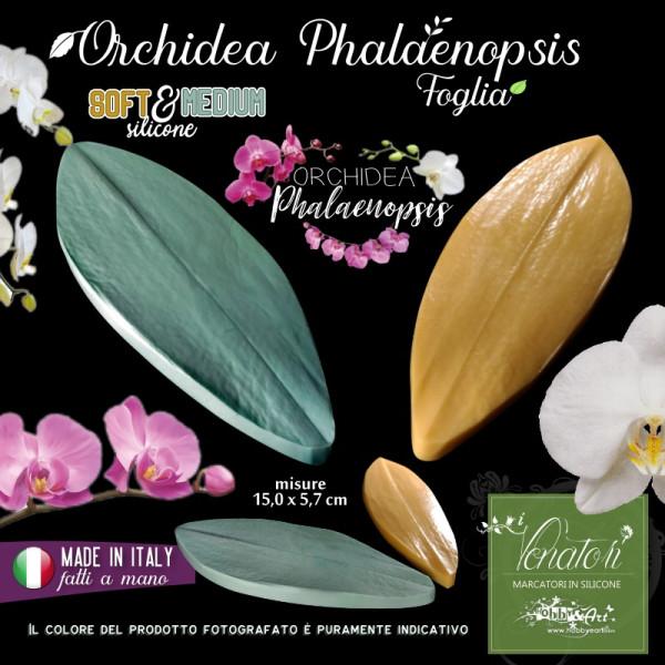 Venatore in silicone foglia di Orchidea Phalaenopsis 150 x 54 mm linea SM - ITA