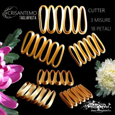Cutter in plastica petali di Crisantemo - 3 misure 18 petali