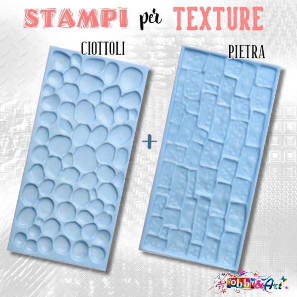 Stampi per texture Ciottoli e Muratura