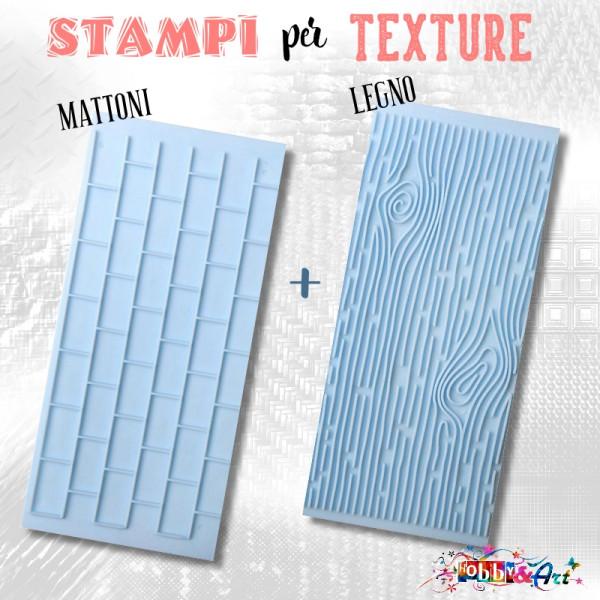 Stampi per texture Mattoni e Legno