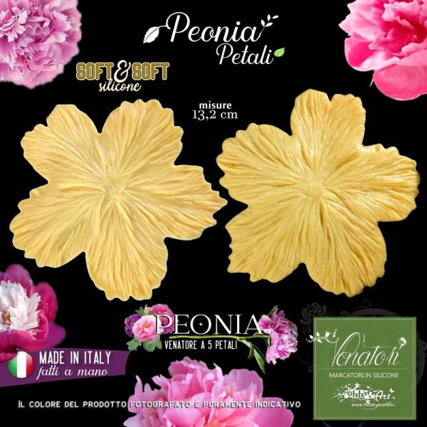 Venatore in silicone petalo multiplo di Peonia