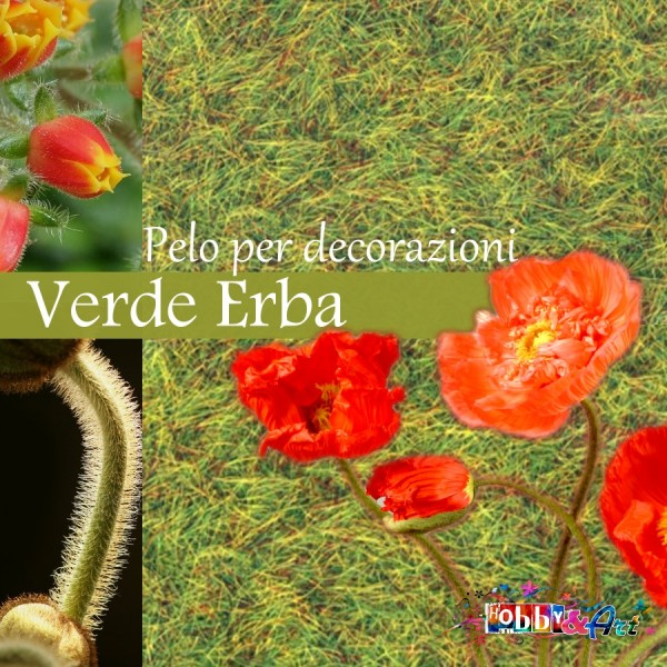 Pelo per fiori e decorazioni - Verde Erba