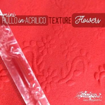 Rullo stendipasta con motivo texture Flowers