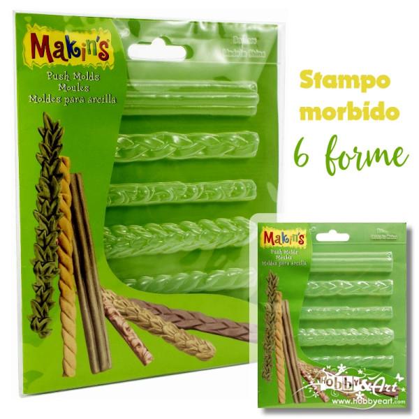 Makin's - Stampo morbido per paste, 6 bordi