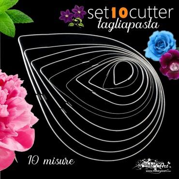 Cutter in metallo foglie e petali 10 misure