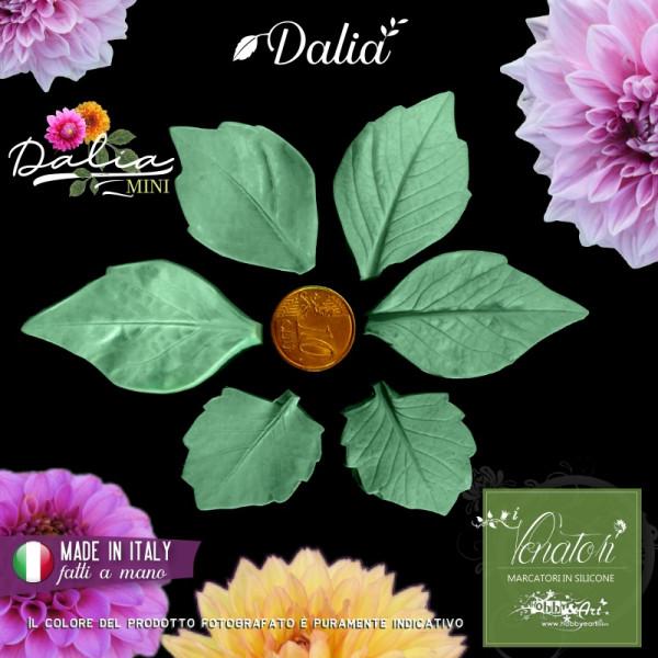 Venatore in silicone Dalia serie mini 3 foglie - ITA