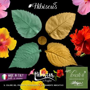 Venatore in silicone Hibiscus, Set 2 foglie - ITA