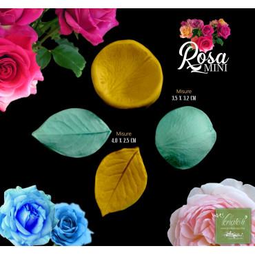 """Venatore in silicone ROSA foglia e petalo serie """"mini"""" - ITA"""