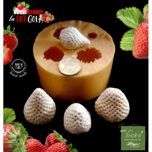 Stampo in silicone FRAGOLE 4 Frutti BIG - ITA