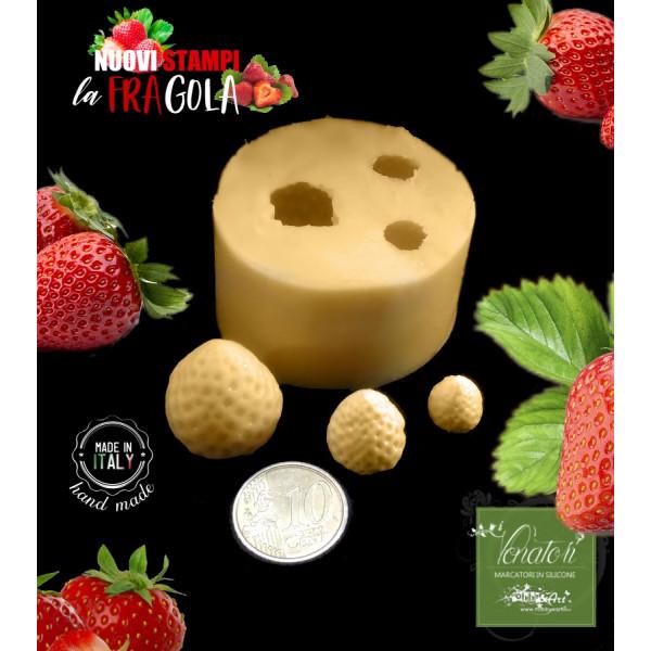 Stampo in silicone FRAGOLE 3 Frutti - ITA