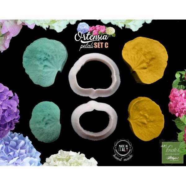 Venatore in silicone ORTENSIA 2 petali con cutter SetC - ITA