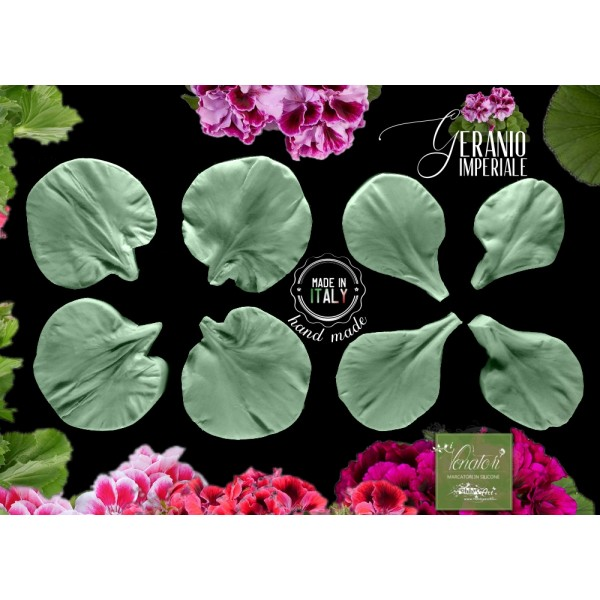 Venatore in silicone GERANIO IMPERIALE 3 petali con cutter - ITA