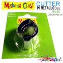 Tris cutter in metallo Makin's forma petalo / foglia 3 misure