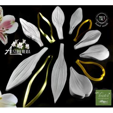 Venatori in silicone Set ALSTROEMERIA 2 petali 2 foglie cutter - ITA